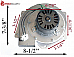 Country Flame Pellet Stove Exhaust Blower w/ Housing & Gasket  101115 G