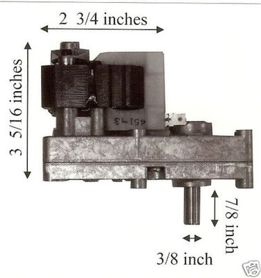 Breckwell Pellet Stove 1 RPM Auger Motor  CE017
