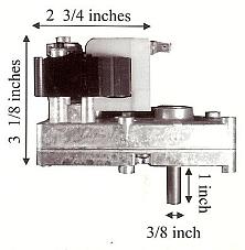 St Croix Pellet 2 RPM Auger Motor - PP7002 MFR 80P20278R