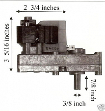 Earth Pellet Stove 6 RPM Auger Motor - CW - PP7016 MFR 15070