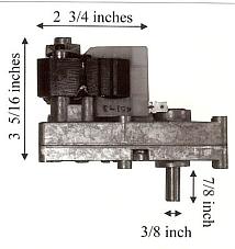 Osburn Pellet Stove 1 RPM Auger Motor 10+ Year Lifespan - PP7000 MFR