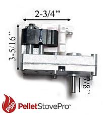 SUMMERS HEAT Pellet Stove Auger Motor X7712R - 2 YEAR WARRANTY - 812-0170 MFR