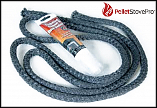 King Ashley Pellett Stove 5500M Pellet Door Rope Gasket Kit 880665FT
