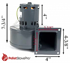 Enviro Pellet Stove Convection Motor Blower - 11-1220 G