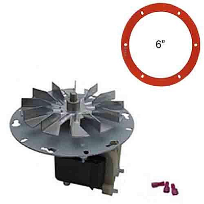 Breckwell Pellet Stove Exhaust CFrame Motor w/ Gasket AE027, CE027