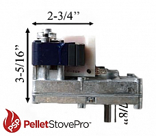 AUGER FEED MOTOR for MASTER PELLET STOVE 1 RPM - 12-1011 MFR