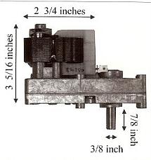 Auger Feed Motor For Kozi Pellet Stove 1 RPM - PP7000 MFR