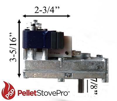 Auger Feed Motor For King Pellet Stove 1 RPM  121010 MFR