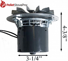 Breckwell Pellet Stove Exhaust Motor w/ Gasket A-E-027, C-E-027