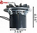 Breckwell Pellet Stove Exhaust Motor w/ Gasket AE027, CE027