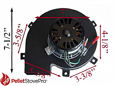 GRAINGER PELLET STOVE - EXHAUST MOTOR 812-0051 G