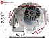 Napoleon Pellet Exhaust Combustion Motor Blower w Housing & Gasket W2900111