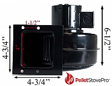 Kozi Pellet Stove Convection Blower Fan - 11-1211 G