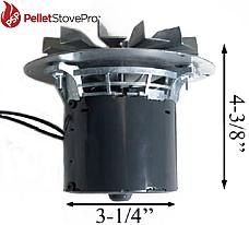 Lennox Pellet Stove Exhaust Motor Blower w/Gasket - 10-1114 MFR