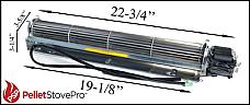 Pre 2006 Austroflamm Integra Pellet Convection Blower w/ Mounting Bracket - RIIZ104551- 104551 G