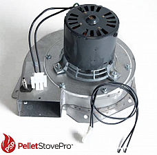 Earth Pellet Stove Exhaust Combustion Blower w Housing & Gasket - 10-1115 G
