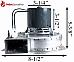 Danson KS50201040 Pellet Exhaust Combustion Motor Blower w/ Housing 101113 G