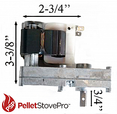 Auger Motor For Harmon Harman Pellet Stove 4 RPM Turns Counter Clockwise - 12-1013R MFR