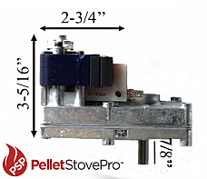 Heat Tech Pellet Stove 1 RPM Auger Motor 10+ Year Lifespan - 12-1010 MFR
