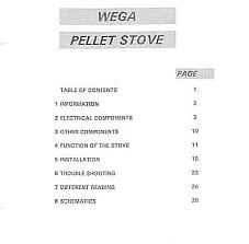 Austroflamm Wega Pellet Stove Repair Service Manual w/ Troubleshooting Guide
