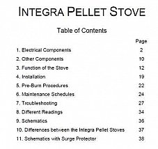 Austroflamm Integra Pellet Stove Repair Service Manual w/ Troubleshooting Guide
