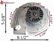 King Ashley Pellet Stove Exhaust Combustion Motor w/ Housing 80473 - UPGRADE