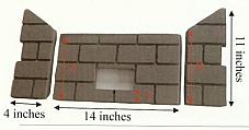 Whitfield Pellet Firebrick Cerra Profile 30 Optima 3 - 14750015