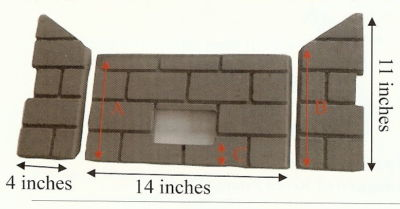 Whitfield Pellet Firebrick Cerra Profile 30 Optima 3  161014 G
