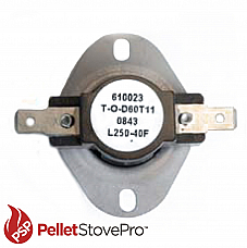 Earth Stove Pellet Stove High Limit Switch L250 - 13-1121 FC