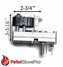 TIMBER RIDGE Pellet Stove Auger Motor X7712R- 2 YEAR WARRANTY!!!