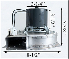 KS5020-1040 Danson Pellet Exhaust Combustion Motor Blower w/ Housing 10-1113 G