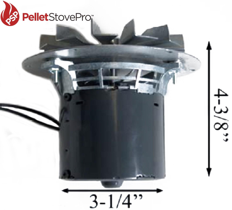 quadrafire pellet exhaust combustion blower santa fe 10 1114 mfr